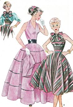 1950s Dress Pattern Simplicity 3957 Full Skirt by paneenjerez, $30.00
