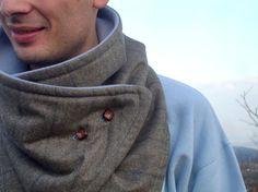 SALE neckwarmer scarve scarf / cowl / for men/ mens by kitrino, €25.00..33.90$