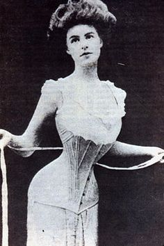 What's a Double Corset | woman wearing a straight-front corset, 1905. Women used to endure ...