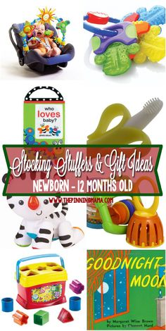 a collection of the best stocking stuffer and small gift ideas for baby put together
