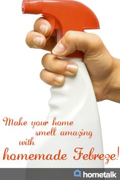 Make your home smell amazing with homemade Febreze!