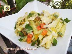 Pasta fredda al pesto di rucola, verdure e parmigiano Blog Profumi Sapori & Fantasia