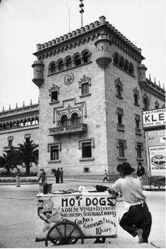 Carreta de hot dogs en Guatemala -1945-