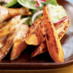 Spicy Sweet Potato Wedges < MyPlate-Inspired Starchy Side Dishes - Cooking Light
