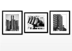 Detroit Photo Series - Black and White - Metallic Print - 8x10. $75.00, via Etsy.