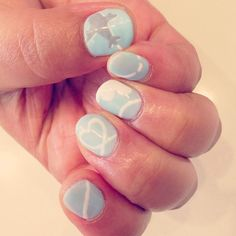 Customer #nails #airplane and #vaportrail #nailart @yulily314 (Yuri) 's Instagram photos | Webstagram - the best Instagram viewer