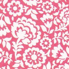 pink Michael Miller fabric with ornaments flowers  beautiful pink fabric from the USA with many white ornaments