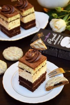 Czekoladowo-piernikowa rozkosz Dessert Cake Recipes, Cookie Desserts, No Bake Desserts, Healthy Desserts, Cookie Recipes, Delicious Desserts, Vegan Junk Food, Italian Pastries, Different Cakes