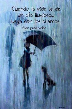 Cuando la vida te de un día lluvioso...juega con los charcos                                                                                                                                                                                 Más