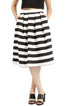 Free shipping and returns on Topshop Stripe Midi Skirt at Nordstrom.com. Crisp pleats define a full midi skirt patterned in jazzy black-and-white stripes.
