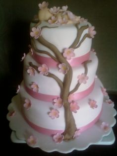 "Baby shower cake ""Cherry Blossoms Baby"""
