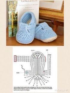 bc1398b7fe572 13 Patrones de Patucos para Bebés - Manualidades Y DIYManualidades Y DIY  Zapatitos Para Bebe