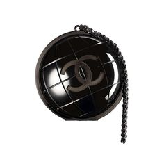 Chanel F/W13 Plexiglas Globe Clutch New | From a collection of rare vintage handbags and purses at http://www.1stdibs.com/fashion/accessories/handbags-purses/