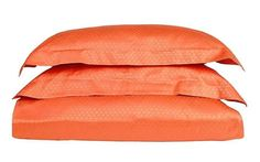 A beautiful orange color duvet set. 100% cotton  Add some color to your room with our new Italian woven jacquard duvet set.  Available in Canada. . .  #pontihome #interiordecorating #interiordesign #placemat #dinner #USA #Canada #italy #instainterior #instahome #Montreal #Toronto #Vancouver #nyc #la #Chicago Bath Table, Interior Decorating, Interior Design, Duvet Sets, Placemat, Table Linens, Montreal, Vancouver, Orange Color
