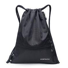 Kopack Gymsack Sackpack Foldable Picnic Mat, Drawstring Gym Bag With Pockets