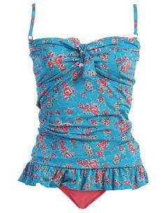 2 Piece Bandeau Tankini Swimsuit Set - List price: $49.00 Price: $34.99