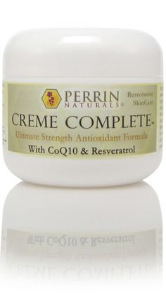 Creme Complete   Perrin Naturals   Natural Skin Care- Restorative & Anti-Aging #WartsOnHands All Natural Skin Care, Organic Skin Care, Natural Health, What Causes Warts, Warts On Hands, Get Rid Of Warts, Skin Growths, Sun Damaged Skin