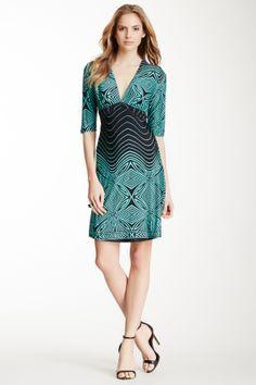 V-Neck Print Dress: I love the print variation at the waist.