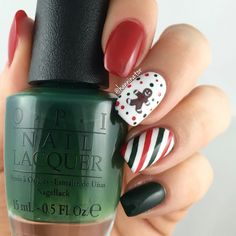 Cute gingerbread man and candy cane nails!  Christmas gone plaid - What's your point-settia? - Alpine snow - You don't know Jaques!  Gingerbread man and straight vinyls from #snailvinyls