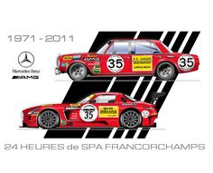 Mercedes-Benz AMG poster 40 years