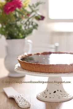 Chocolate & salted butter caramel tart