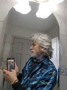 Mens Hairstyles With Beard, Selfie, Hair Styles, Hair Plait Styles, Hair Makeup, Hairdos, Haircut Styles, Hair Cuts, Hairstyles