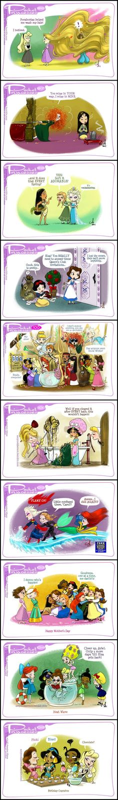 My Junk Drawer Pocket Princesses (Part by Amy Mebberson Pocket Princesses, Pocket Princess Comics, Disney Pixar, Disney And Dreamworks, Disney Magic, Walt Disney, Disney Princes, Funny Disney Memes, Disney Quotes