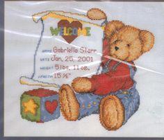 blue jean teddy cross stitch patterns - Bing Images