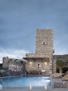 Breathtaking 19th-century stone tower in Greece: Tainaron Blue Retreat