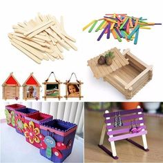 49 Best Ice Cream Sticks Crafts (Popsicle Sticks) images in