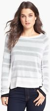 $88 (M) Splendid Grey Quebec Shadow Stripe Pullover Sweater Shirt NwD (D-4)