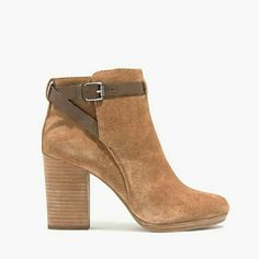 """Madewell Suede Ankle Boots Gorgeous for winter/spring!  New in box. Size 10 (will work for a 9.5). Color: Truffle.  With its gently rounded toe, stacked heel and polished leather strap, this suede ankle boot has wear-forever appeal and a walk-for-hours feel, thanks to the subtle platform.  Suede upper Leather lining 3 1/2"""" heel Man-made sole Import Madewell Shoes Ankle Boots & Booties"""
