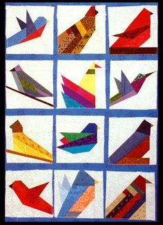 paper piecing patterns -birds.