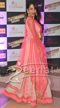 Malaika Arora In Seema Khan Lehenga  http://zeenatstyle.com/bollywood-fashion/malaika-arora