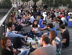 Must do this!  Picnic on the Ponts d'Arts bridge to watch sunset behind the Eiffel Tower.
