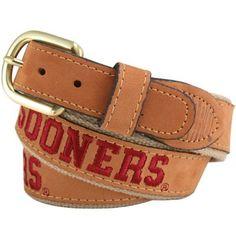 Oklahoma Sooners Leather Belt