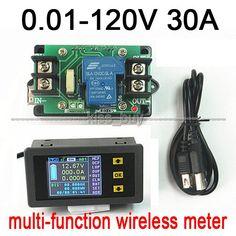 DC Battery 120V 30A LCD Voltage Current Watt Power capacity Digital Combo Meter Volt  ammeter charge discharge 12v 24v