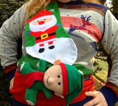 When you get invited to a tacky sweater party, the Dollar Store Ugly Christmas Sweater is exactly what you need to make. Go to the dollar store where you can get tons of ugly sweater ideas to start your crafting. Even if you're short on time, this sw Tacky Christmas Party, Diy Ugly Christmas Sweater, Christmas Love, Christmas Deco, Christmas Snowman, Christmas Crafts, Merry Christmas, Tacky Sweater, Ugly Sweater Party