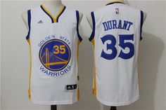 Golden State Warriors 35 Kevin Durant White Home New Swingman Jersey