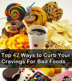 There are many natural ways to reduce or eliminate your cravings completely, often before they strike or when you feel them coming on. Try these 42 different ways to tackle the cravings without the need for appetite suppressants. Pin if you like it!