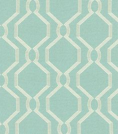 A decorative geometric design defined by simplicity and symmetry. Add a contemporary look to your room using this durable fabric for your projects to complement your home décor theme.  Content: 34% Ra