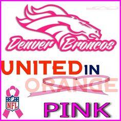 Go Broncos, Broncos Fans, Denver Broncos, Bronco Car, Nfl, John Elway, Pink Nation, Peyton Manning, Breast Cancer