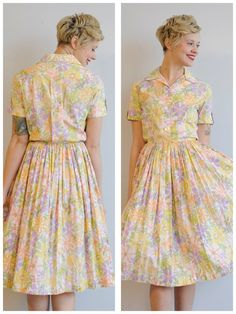 1950s Dress // Begonia Day Dress // vintage 50s by dethrosevintage, $69.00