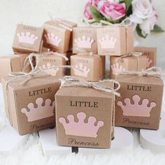 Items similar to Girl Baby Shower Favor Box Little Princess Paper Kraft Boxes Pink Candy Box Girl Birthday Bomboniere Favors Box on Etsy Cadeau Baby Shower, Deco Baby Shower, Fiesta Baby Shower, Baby Shower Favors Girl, Baby Shower Candy, Baby Shower Party Supplies, Baby Shower Princess, Baby Shower Parties, Baby Showers