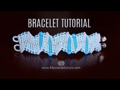 Artistic Macramé Bracelet Tutorial by Macrame School - YouTube