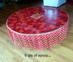 BOHO - Bohemian Coffee Table. Great with pillows on the floor!