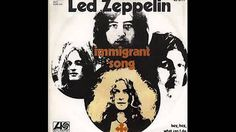 Led zeppelin - Immigrant Song (Lyrics in description) - Greatest Hits Great Bands, Cool Bands, Hard Rock, Led Zeppelin Immigrant Song, Football Music, It Happened One Night, Blues, Best Rock Bands, Atlantic Records