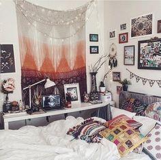 Cozy dorm room decor.