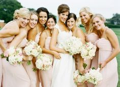 Blush Wedding Color Palettes-- love that this is not too pink, so the wedding won't be froo froo