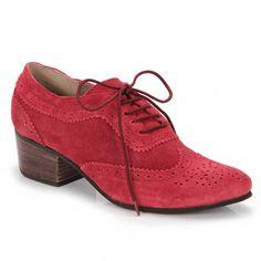 Sapato Oxford Feminino Para Raio L86608 - Vermelho